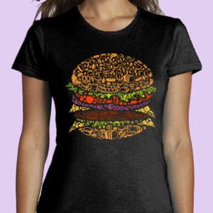 TSHIRT FRAU Burger desing